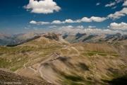 Blick vom Cime de la Bonette, Französische Alpen, Nationalpark Mercantour