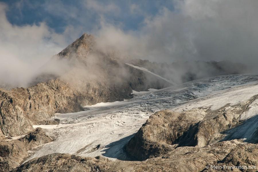 Gletscher am Berg La Meije