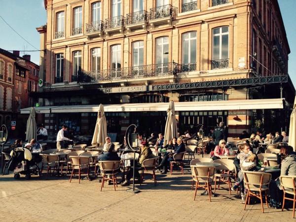 Restaurant in der Altstadt von Albi
