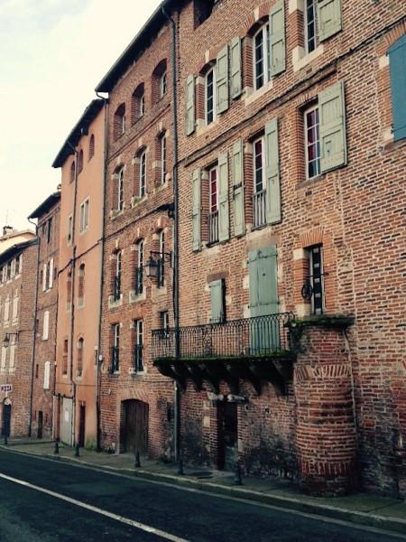 Häuser in der Altstadt von Albi