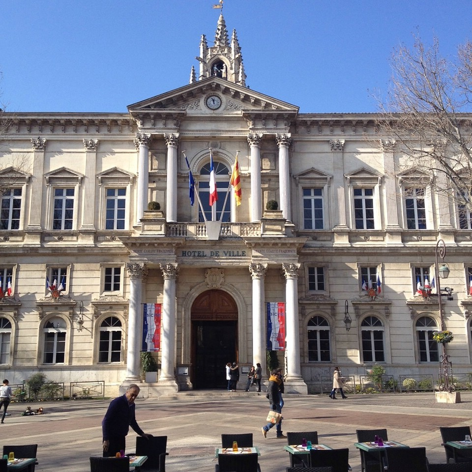 Das hübsche Rathaus von Avignon