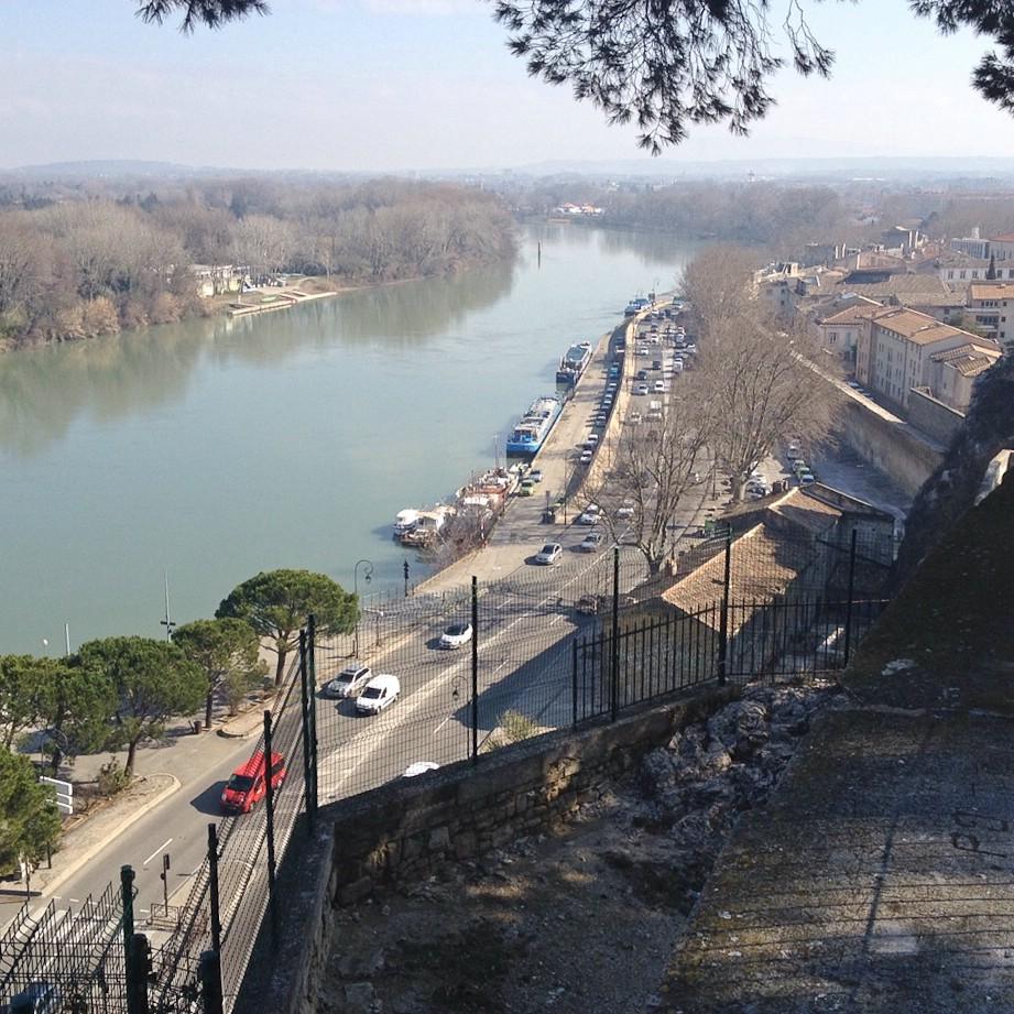 Ausblick von Avignon auf die Rhône