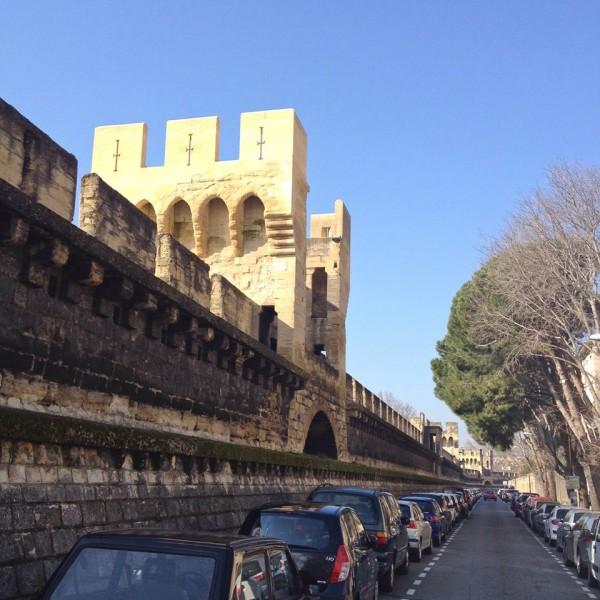 Teil der Stadtmauer von Avignon