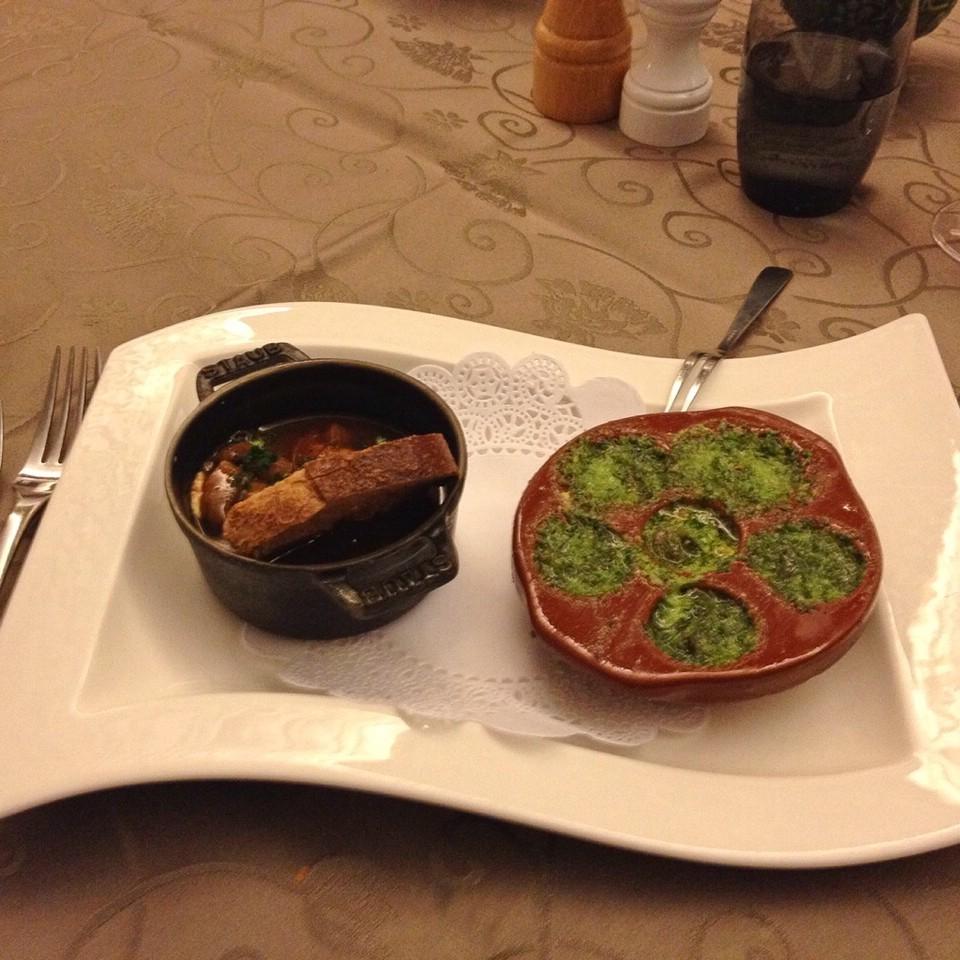 Leckeres Abendessen in Beaune