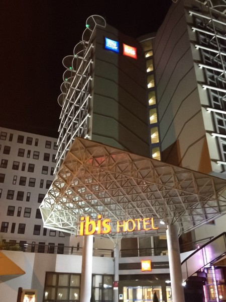 Bordeaux, Hotel am Abend