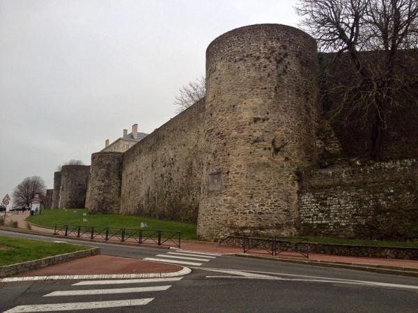 Ein Teil der Stadtbefestigung von Boulogne-sur-Mer