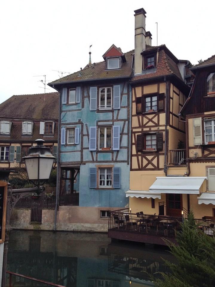 Häuser in der Altstadt von Colmar, überall findet man Fachwerk