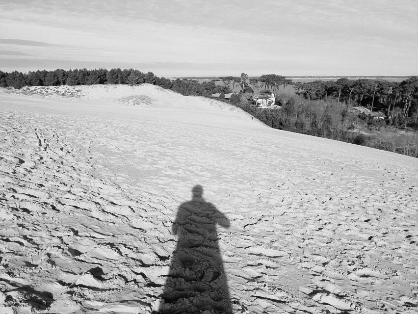 Blick landeinwärts von der Düne von Pilat