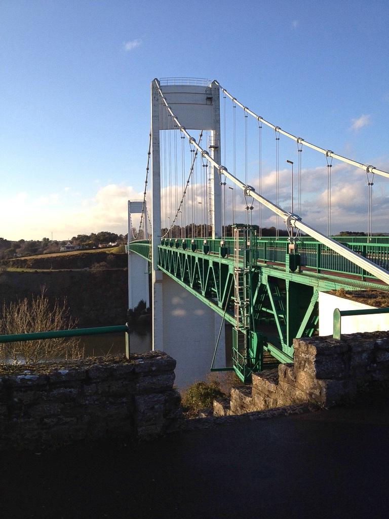 La Roche-Bernard, Hängebrücke über den Fluss Vilaine