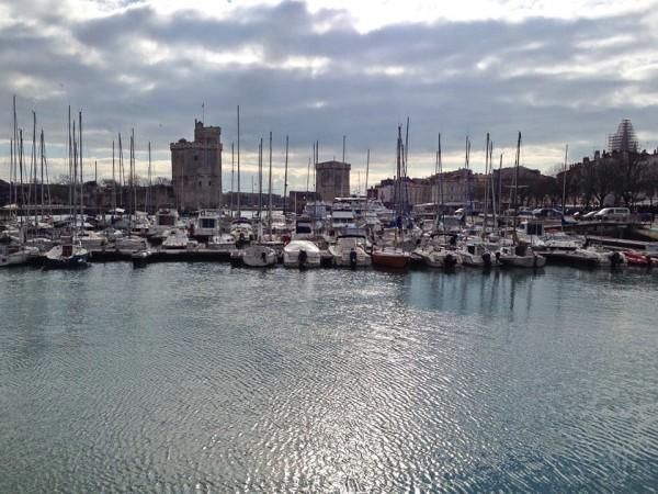 Teil des Hafens von La Rochelle