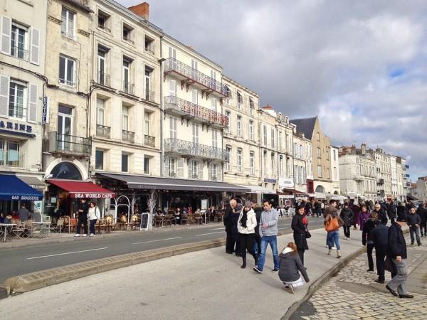 Häuser am Hafen von La Rochelle