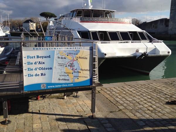 Fähre von La Rochelle zum Fort Boyard