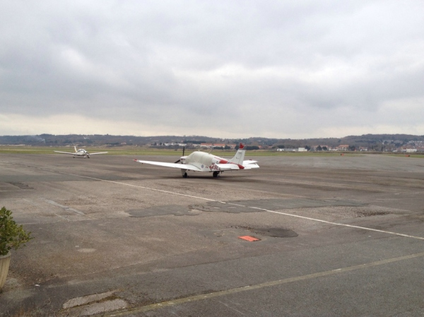 Le Touquet, Flughafen, Rollfeld