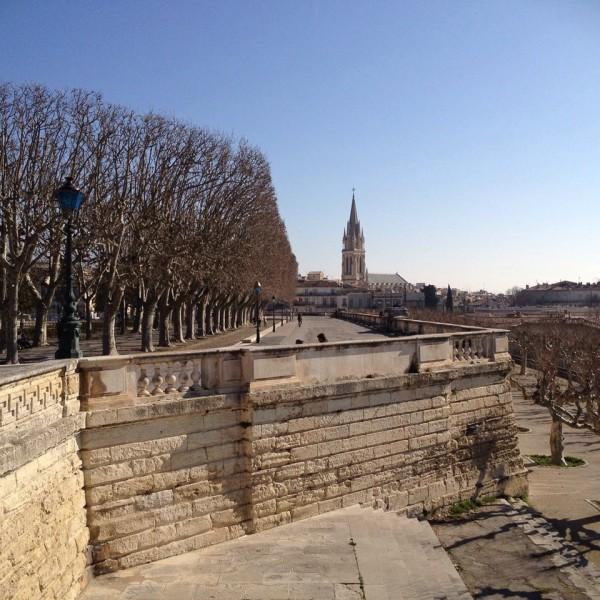 Montpellier, Ausblick vom Place du Peyrou