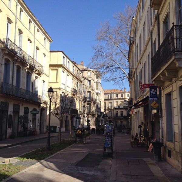 Straße in der Altstadt von Montpellier