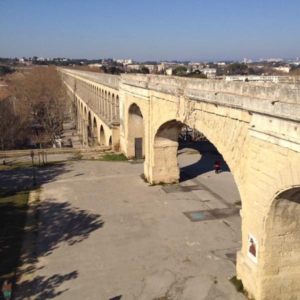 Das Aquädukt von Saint-Clément im Montpellierer Stadtteil Les Arceaux, erbaut, bzw. fertiggestellt wurde es im Jahr 1772