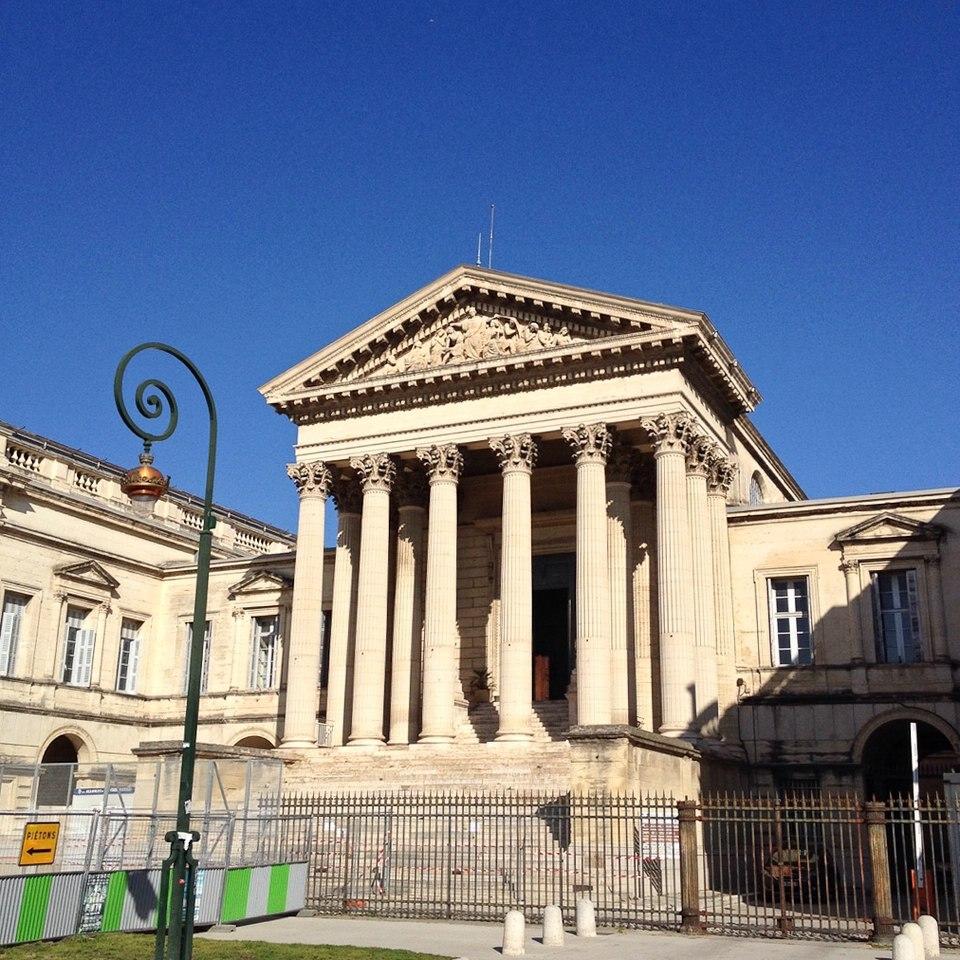 Der Justizpalast von Montpellier