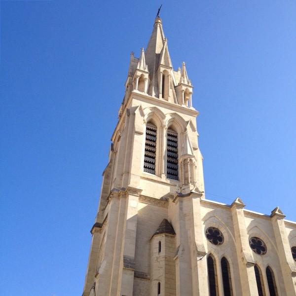 Die Kirche Sainte-Anne in der Altstadt von Montpellier
