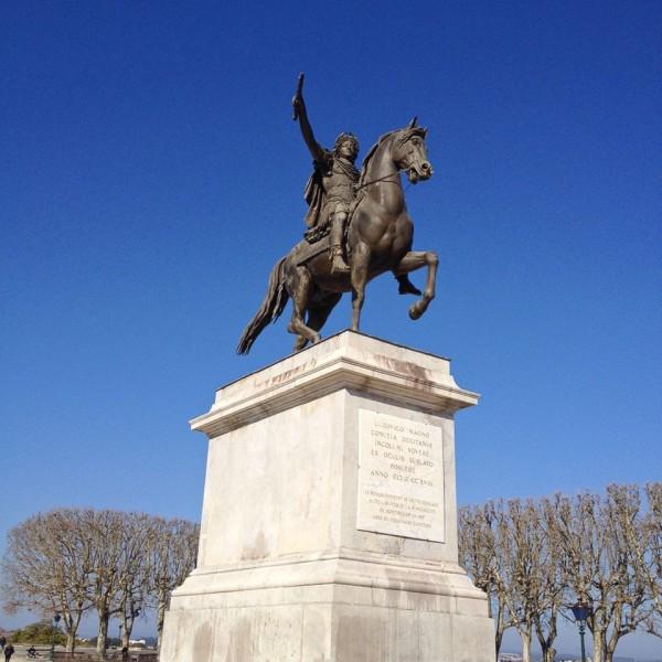 Statue von Ludwig XIV an der Promenade du Peyrou