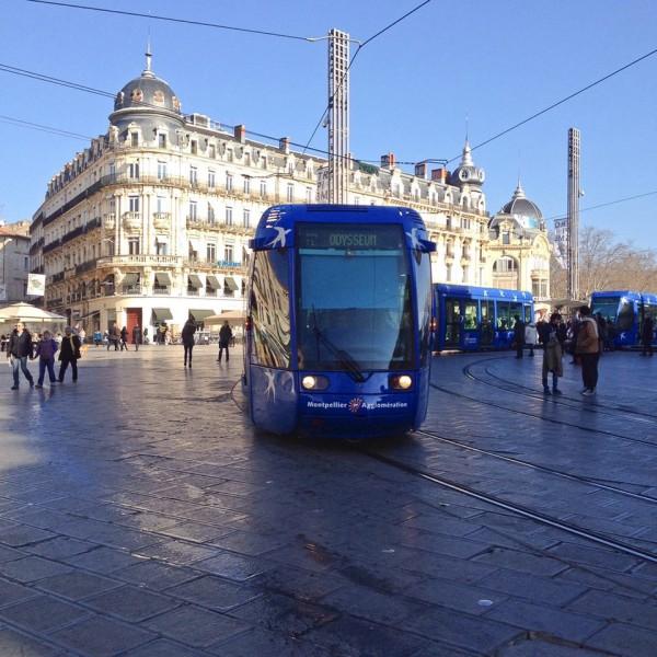 Moderne Straßenbahn in Montpellier