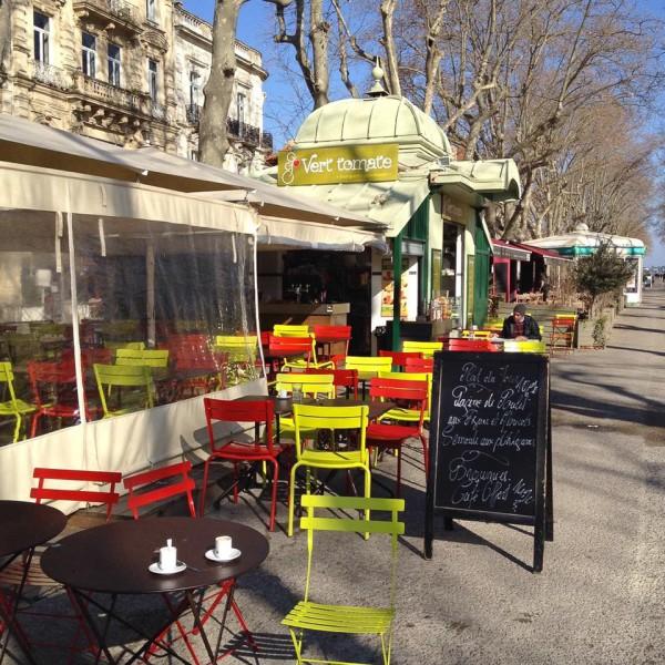"""Restaurant """"Grüne Tomate"""" im Zentrum von Montpellier"""