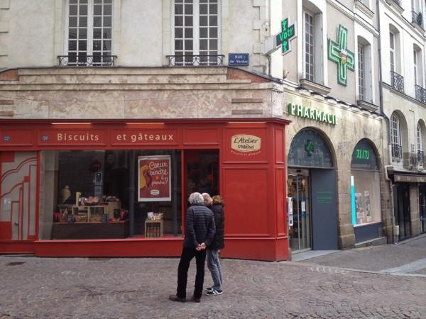 In der Innenstadt von Nantes