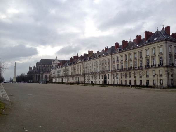 Häuserfront im Zentrum von Nantes
