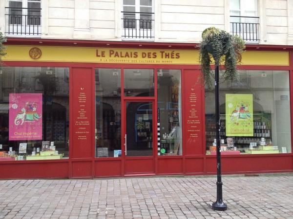 Ein Teeladen in der Innenstadt von Nantes