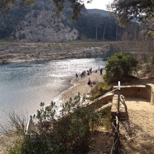 Der Fluss Gardon am Pont du Gard