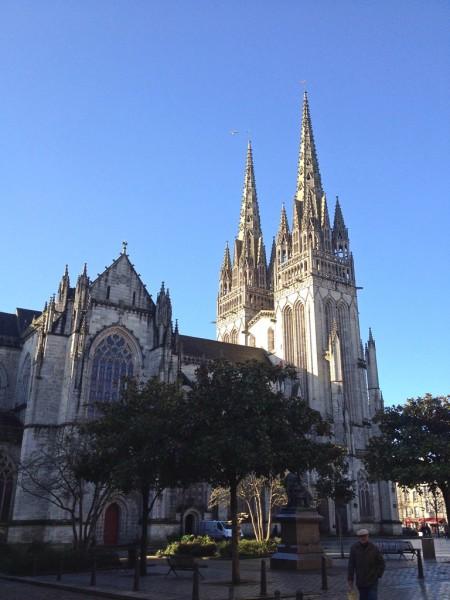 Die Kathedrale Saint Corentin in Quimper