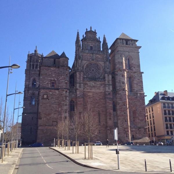 Die Kathedrale Notre-Dame in Rodez