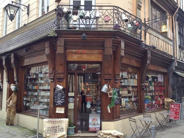 Geschäft in der Altstadt von Rouen