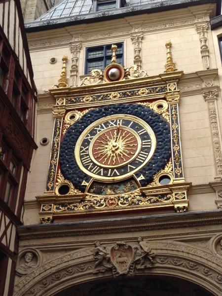 Detailansicht der Uhr