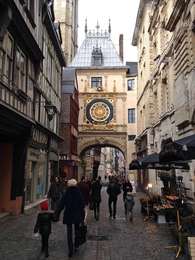 Der Uhrenturm von Rouen, das Wahrzeichen der Stadt