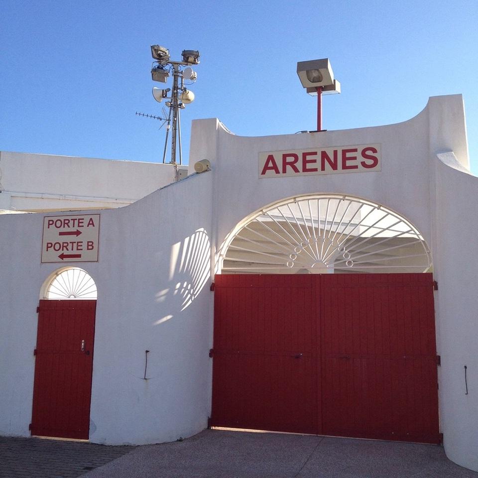 Eingang zur Arena von Saintes-Maries-de-la-Mer