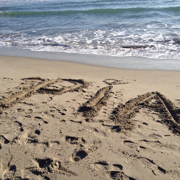 Für meine Frau am Strand von Saintes-Maries-de-la-Mer