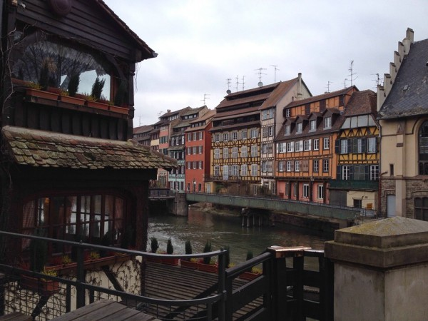 Wunderschöne Fachwerkhäuser in der Altstadt von Straßburg
