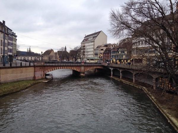 Der Fluss Ill in Straßburg