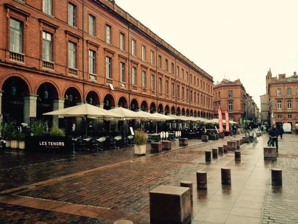 Häuser im Zentrum von Toulouse