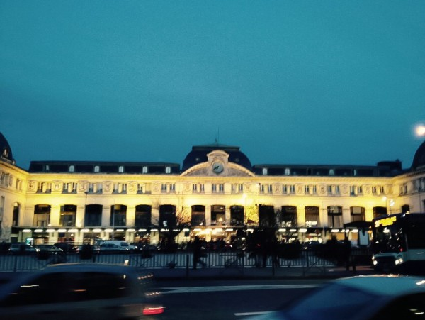 Toulouse, La Gare Matabiau am Abend