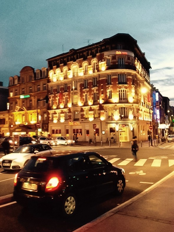 Toulouse, Hotel am Abend