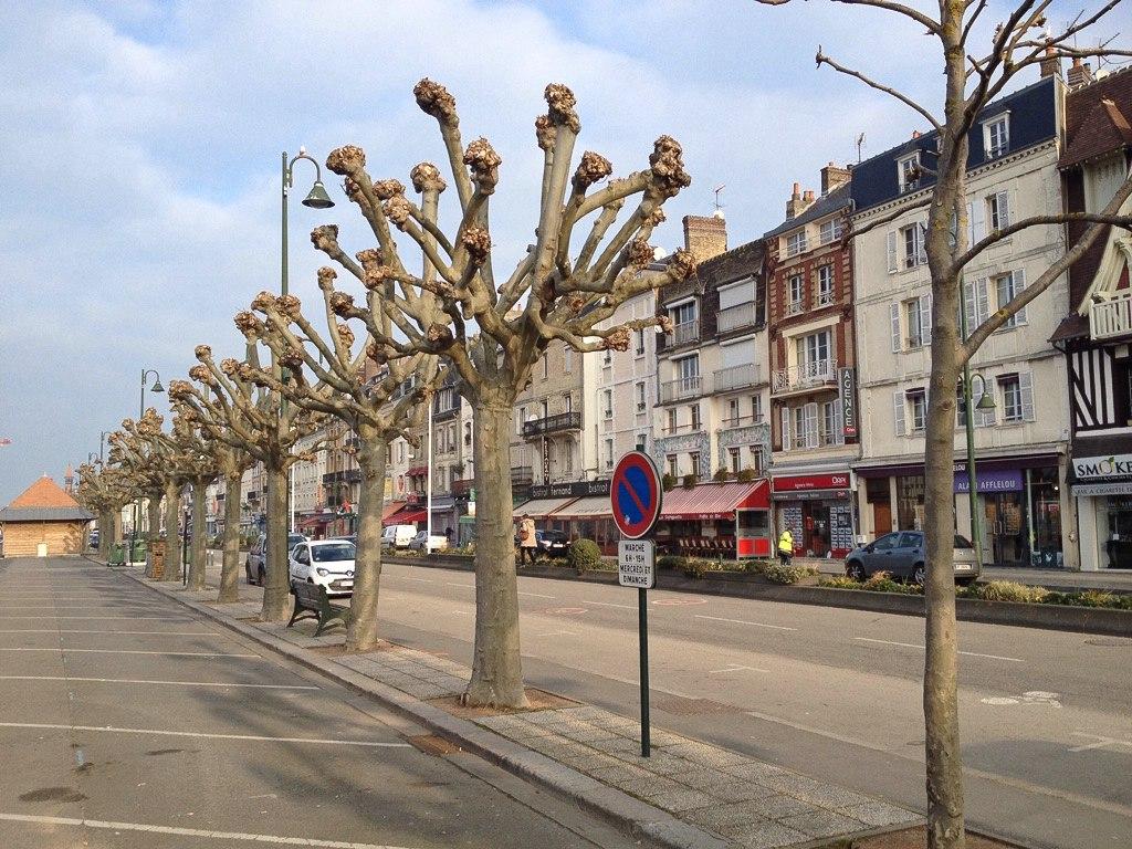 Straße in Trouville-sur-Mer